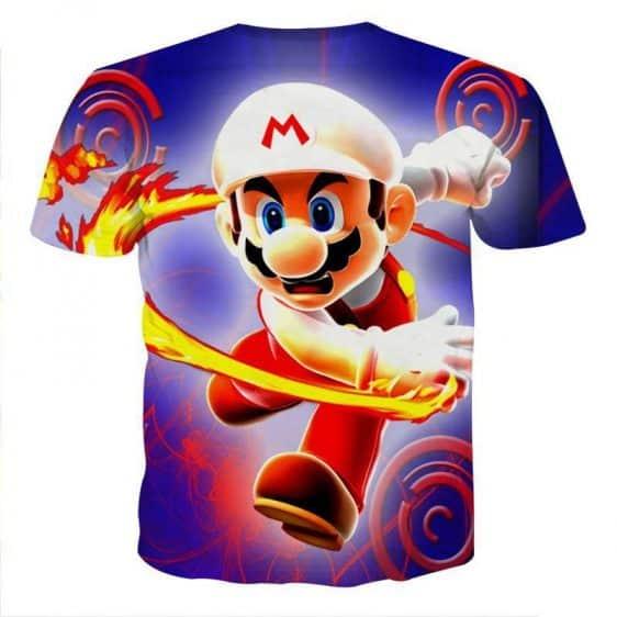 Super Mario Fire Flower Upgrade Urban Wear Style T-Shirt
