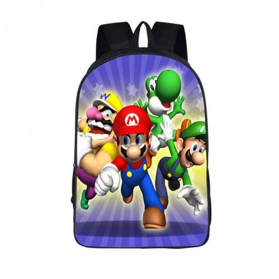Super Mario Galaxy Characters Mario Wario Luigi Yoshi Backpack Bag