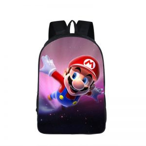 Super Mario Galaxy Cool 3D Space Flying Backpack Bag