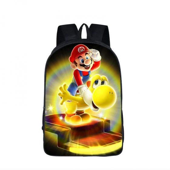 Super Mario Galaxy Glowing Yellow Yoshi Backpack Bag