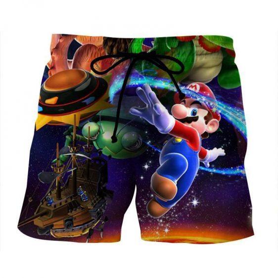 Super Mario Galaxy Sky Frigate Vivid Color Summer Shorts