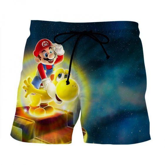 Super Mario Golden Yoshi Print 3D Design Game Art Dope Shorts