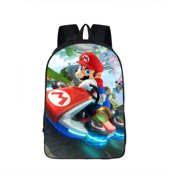Super Mario Kart Racing Intense Driving Backpack Bag