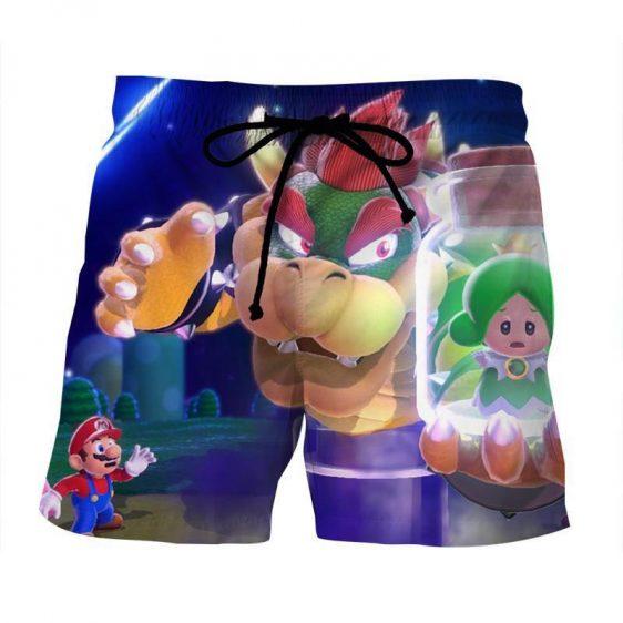 Super Mario King Koopa Bowser Evil Villain Style Gym Shorts