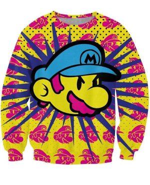 Super Mario Legend Video Game Mushroom Kingdom Colorful Art Sweatshirt - Woof Apparel