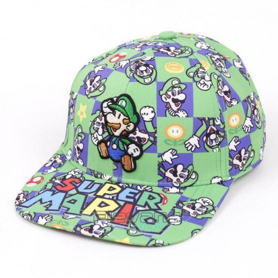 Super Mario Luigi All Style Green Streetwear Cool Baseball Hat Cap