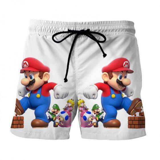 Super Mario Mega Mushroom Luigi Toad 3D Design Print Shorts