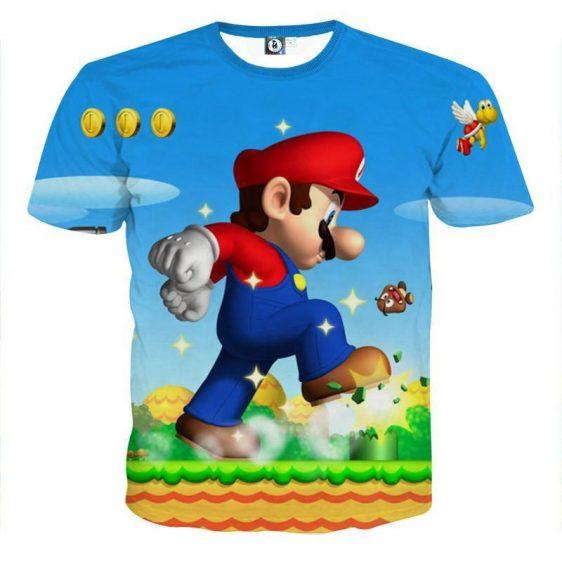 Super Mario Mega Mushroom Upgrade Giant Gaming Style T-Shirt