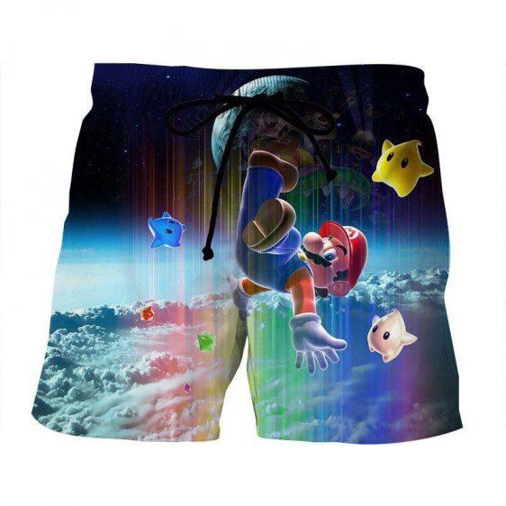 Super Mario Nintendo 3DS Rainbow Browser Color Summer Shorts