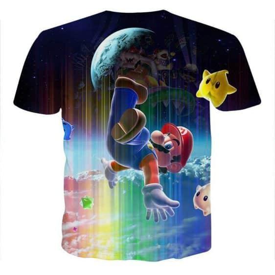 Super Mario Nintendo 3DS Rainbow Browser Color T-Shirt