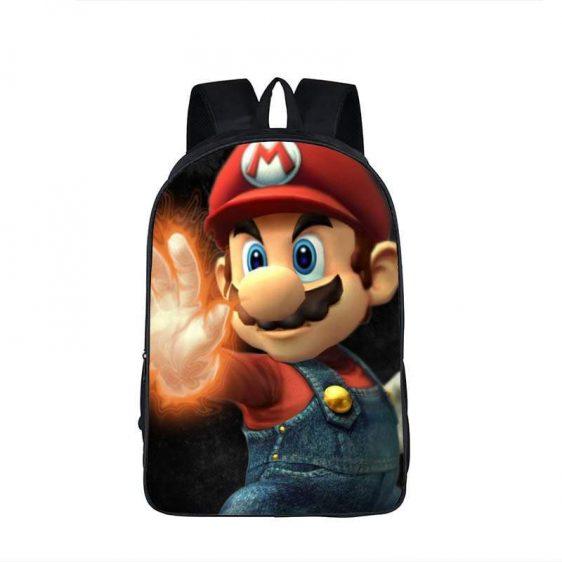 Super Mario Powerful Cool Black Backpack Bag