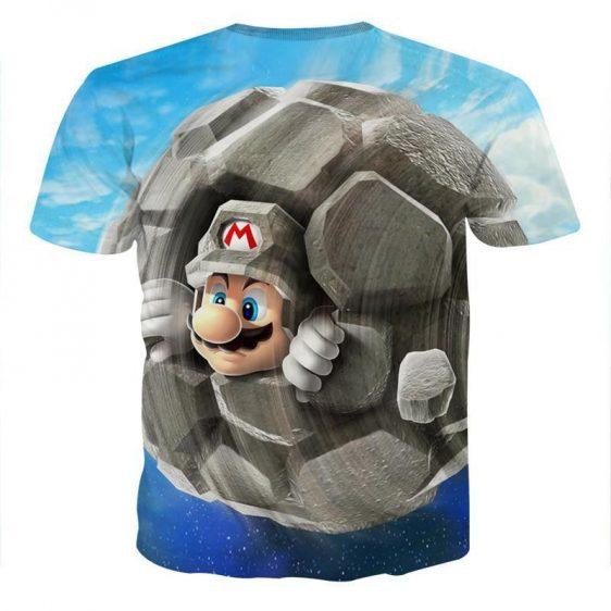 Super Mario Rock Mushroom Cool Gaming T-Shirt