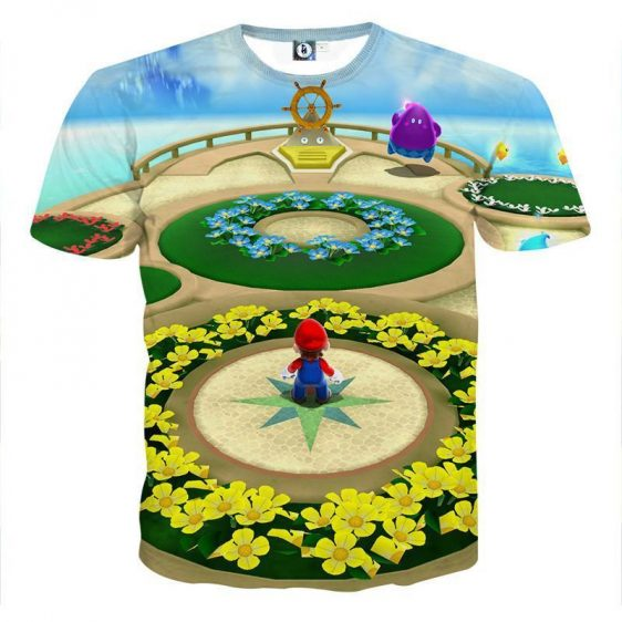 Super Mario Skyship Cool Map Color Style T-Shirt