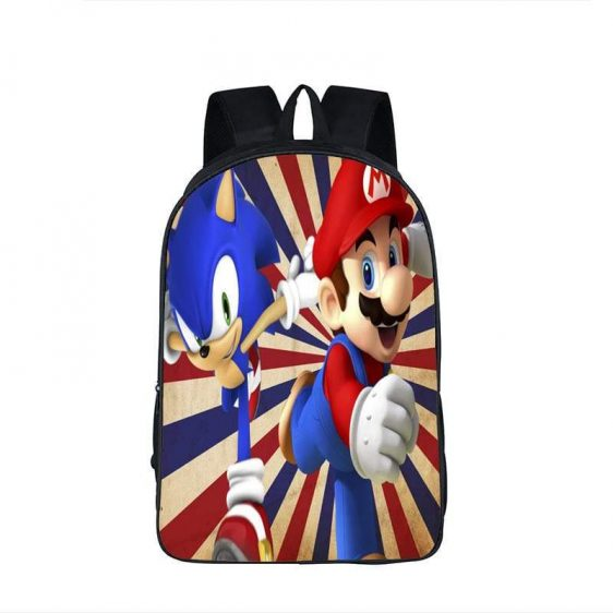 Super Mario Sonic The Hedgedog Retro Style Backpack Bag