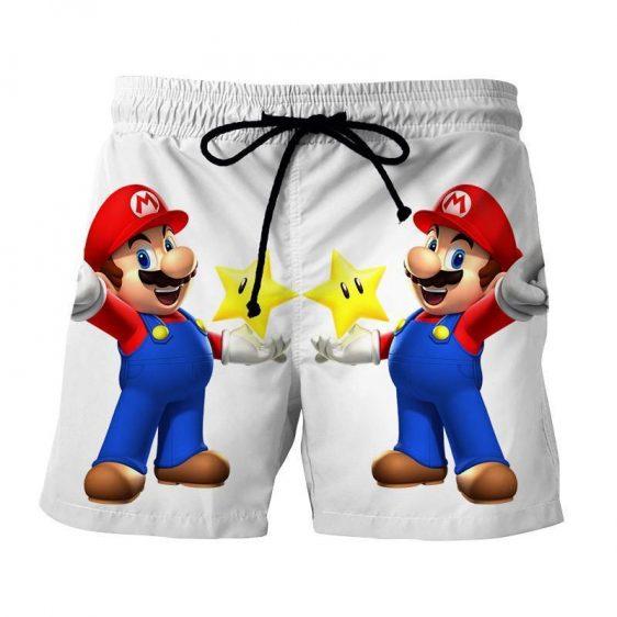 Super Mario Super Star Invisible Mode Cool Design Shorts