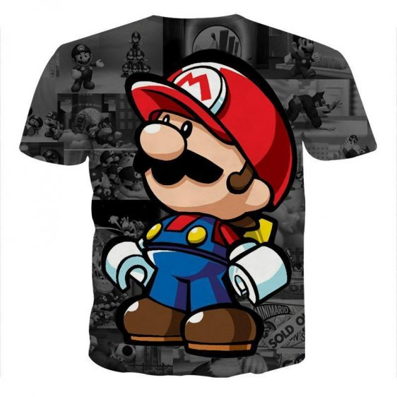 Super Mario collab Lego Figure Cool Style Streetwear T-Shirt