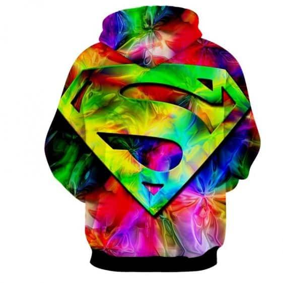 Superman Super Colors Vibrant Design Full Print Hoodie