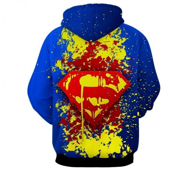 Superman Super Cool Signature Design Full Print Hoodie