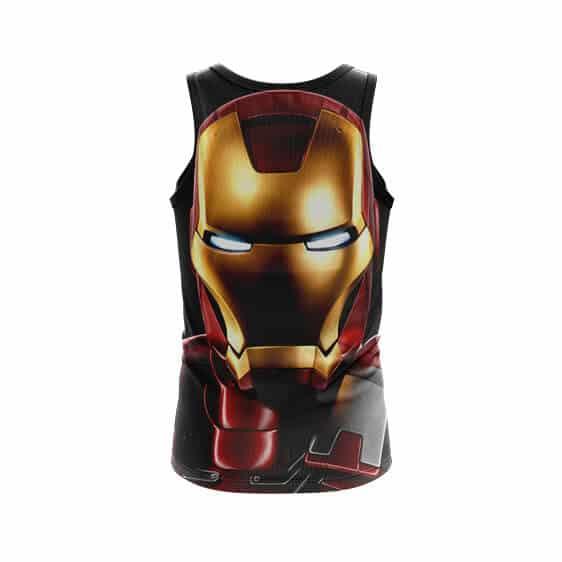 Marvel Comics Iron Man Portrait Style Full Print Tank Top - back