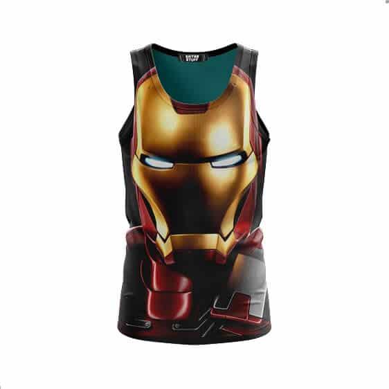 Marvel Comics Iron Man Portrait Style Full Print Tank Top - front