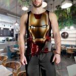 Marvel Comics Iron Man Portrait Style Full Print Tank Top
