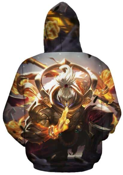League of legends The New Epic God Staff Jax Gray Hoodie