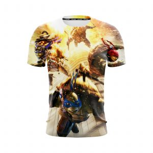 Teenage Mutant Ninja Turtles Running From The Fire T-Shirt