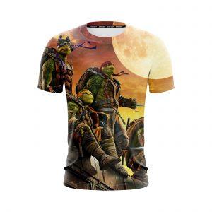 Teenage Mutant Ninja Turtles Superhero Orange Sunset T-shirt