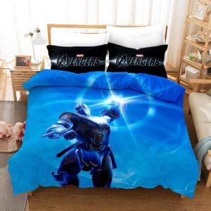 Thanos Infinity Gauntlet Attack Ocean Blue Bedding Set