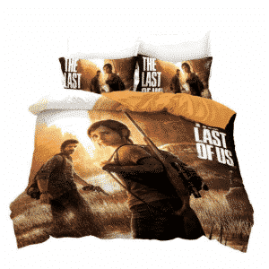 The Last of US Worried Elie and Joel Classic Bedding Set