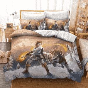 The Legend of Zelda Link With Pet Wolf Awesome Bedding Set
