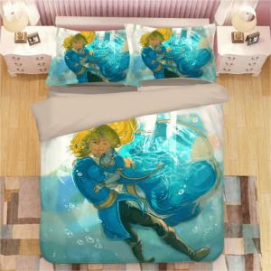 The Legend of Zelda Link Zelda Underwater Blue Bedding Set