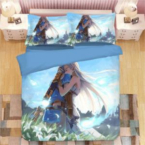 The Legend of Zelda Romantic Link Zelda Hug Bedding Set