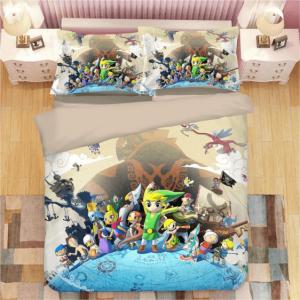 The Legend of Zelda Wind Waker Cute Characters Bedding Set