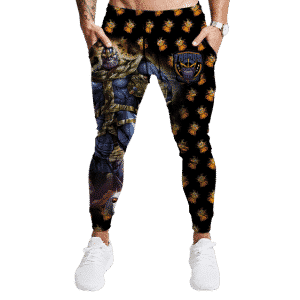 The Mad Titan Thanos Infinity Gauntlet Pattern Jogger Pants