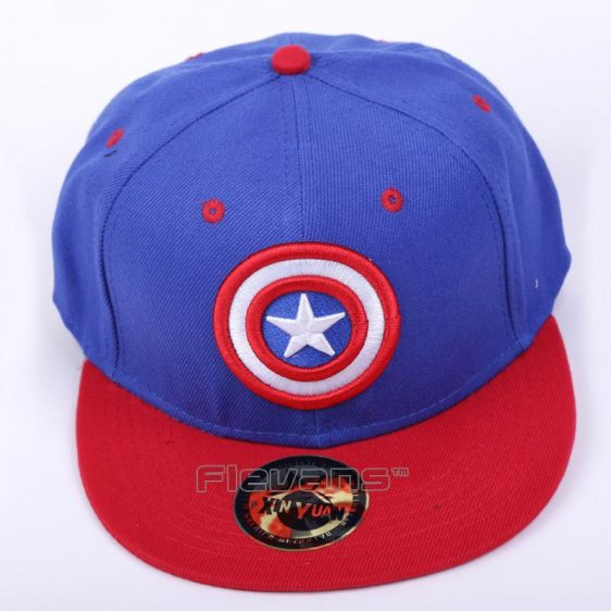 The Avengers Captain America Logo Streetwear Blue Snapback