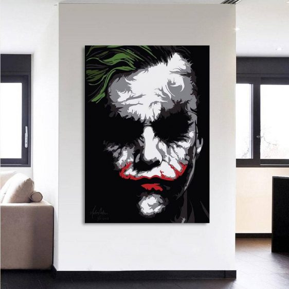 The Bad Ass Psychopath Joker 1pcs Vertical Canvas Print