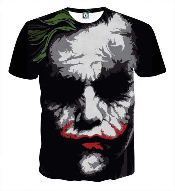 The Bad Ass Psychopath Joker Design Full Print T-Shirt
