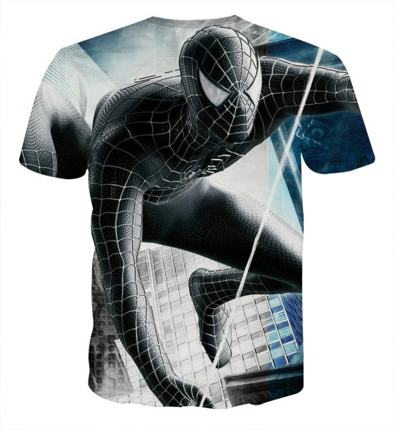 The Black Spider-Man Design Full Print Cool T-Shirt