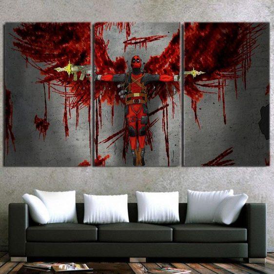 The Bloody Superhero Stylish Deadpool 3pcs Canvas Print