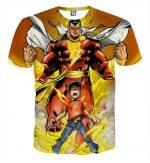 The Captain Marvel Shazam Empowered Kid Yellow Print T-Shirt