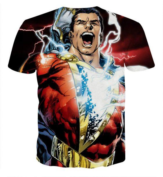 The Champion Captain Marvel Shazam Red Full Print T-Shirt