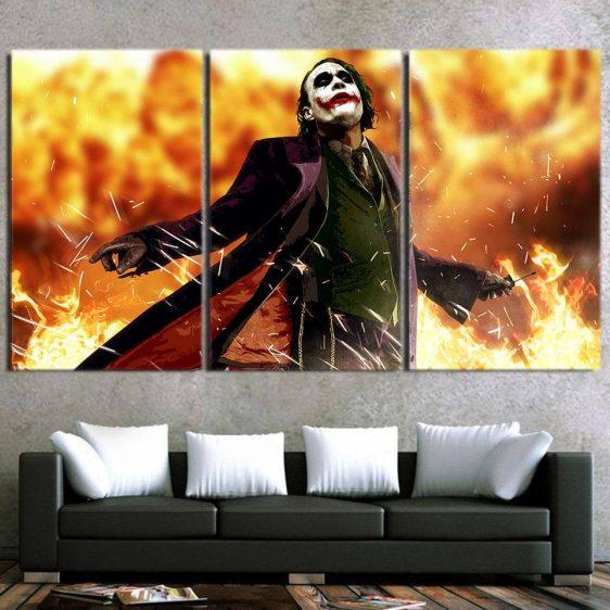 The Cold-Blooded Supervillain Joker 3pcs Canvas Print