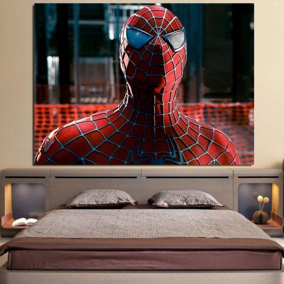 The Cool Spider-Man Close-Up Design 1pcs Canvas Print
