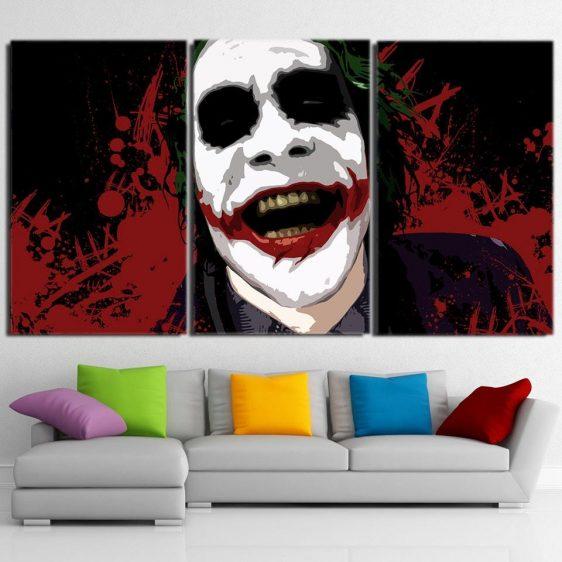 The Devil's Advocate Joker 3pcs Wall Art Canvas Print