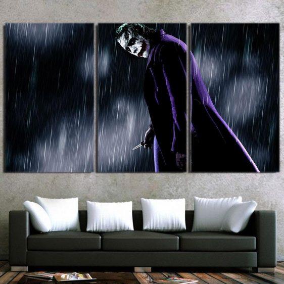 The Exhausted Weary Joker Dark 3pcs Wall Art Canvas Print