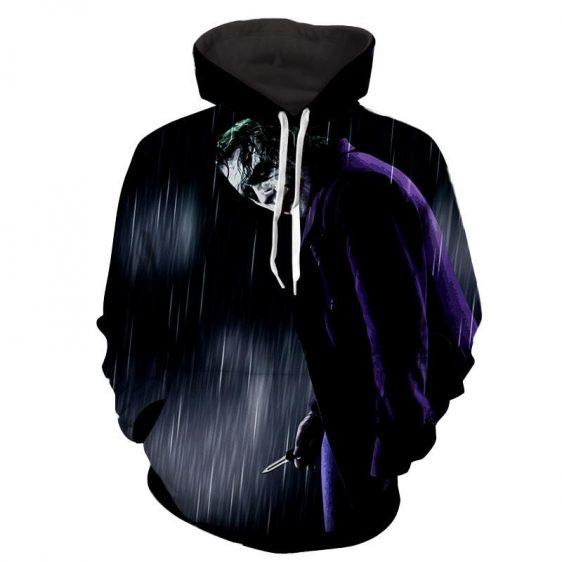 The Exhausted Weary Joker Dark Design Full Print Hoodie