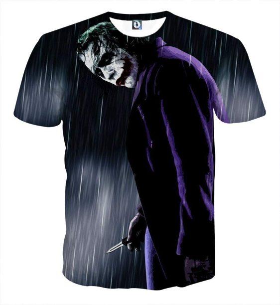 The Exhausted Weary Joker Dark Design Full Print T-Shirt