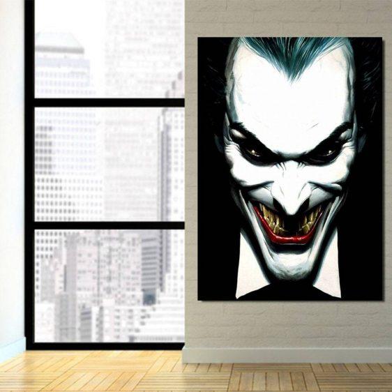 The Fatal Smile Of Joker Design 1pcs Vertical Canvas Print
