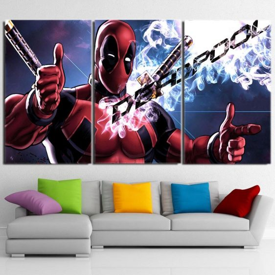 The Fearless Comic Deadpool Cool 3pcs Wall Art Canvas Print